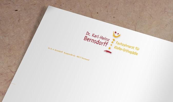 Dr. Bernsdorff - Briefbogen-Detail