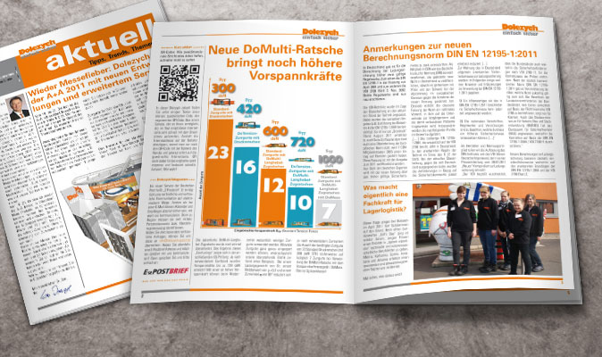 Dolezych: Einarbeitung von Inhalten in die Kundenzeitung