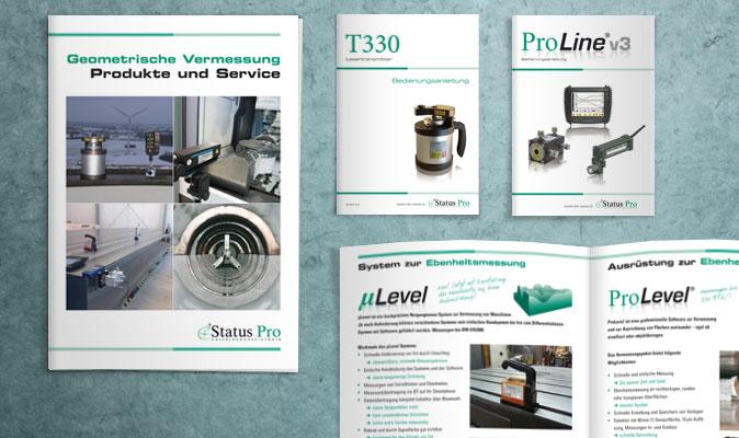 Status Pro Maschinenmesstechnik: Produktbroschüren und Bedienungsanleitungen