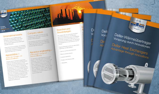 Deller GmbH: Unternehmensbroschüre, zweisprachig