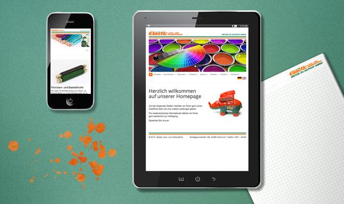 Elastic Lack- und Farbenfabrik, Webdesign (responsive) und CMS