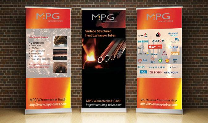 MPG Mendener Präzisionsrohr GmbH: Messebanner