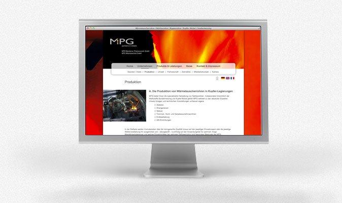 MPG Mendener Präzisionsrohr GmbH: Webdesign und CMS