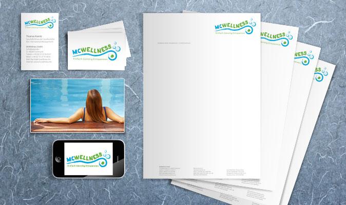 McWellness: Logogestaltung und Geschäftspapiere