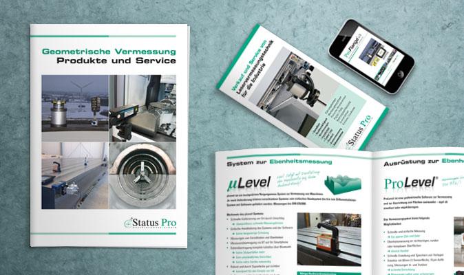 Status Pro Maschinenmesstechnik: Produktbroschüren und -faltblätter