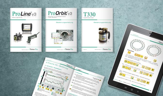 Bedienungsanleitungen für Geräte und Software, Status Pro