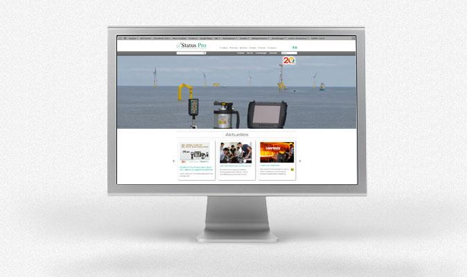 Status Pro Maschinenmesstechnik | Webdesign (responsive), Programmierung, CMS, Pflege