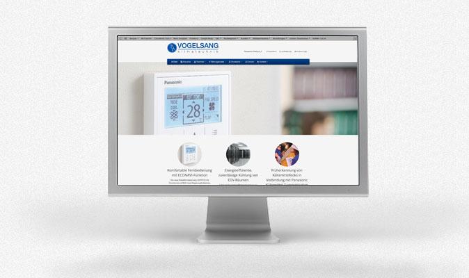 Webdesign, Programmierung und CMS, Vogelsang Klimatechnik