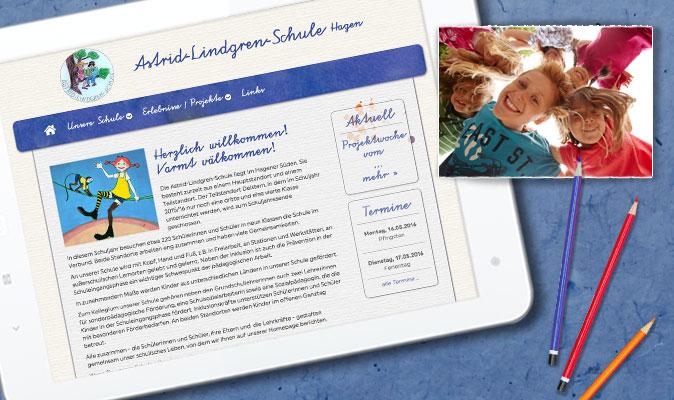 Astrid-Lindgren-Schule Hagen, Webdesign und CMS, www.als-hagen.de