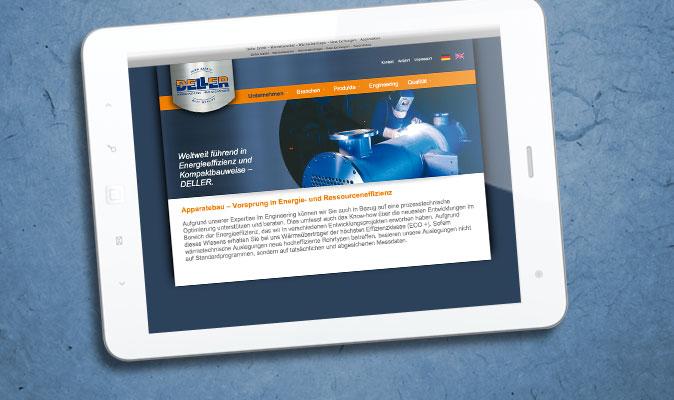 Deller GmbH: Website (Programmierung nach geliefertem Entwurf, CMS)