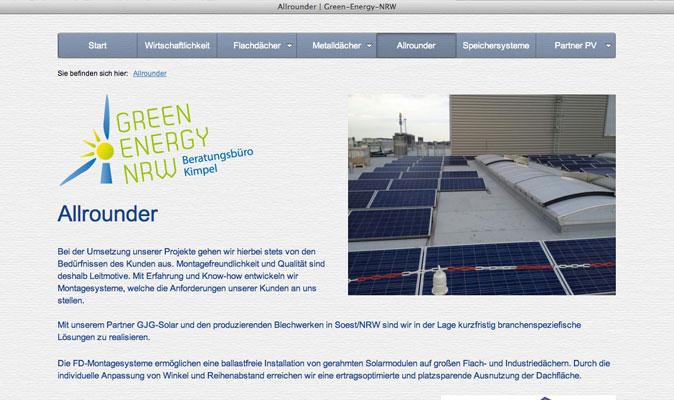 Webdesign für Green Energy NRW
