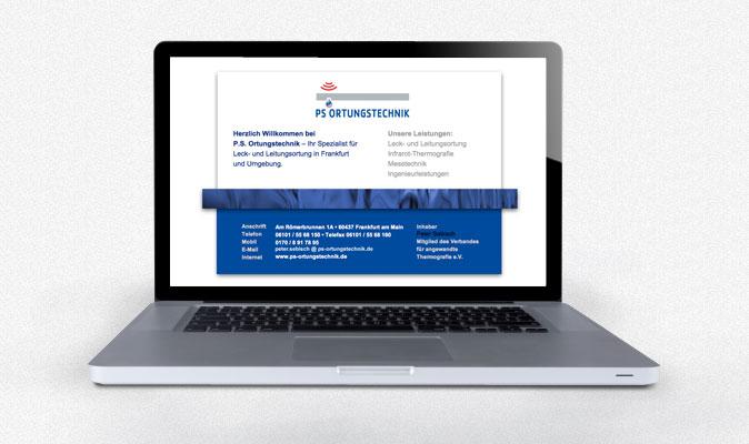 PS Ortungstechnik: Webvisitenkarte